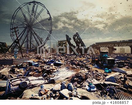 Apocalypse city landscape. 41608857