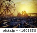 街 都市 倒壊のイラスト 41608858