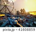 街 都市 倒壊のイラスト 41608859