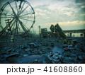 街 都市 倒壊のイラスト 41608860