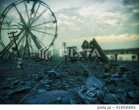 Apocalypse city landscape. 41608860