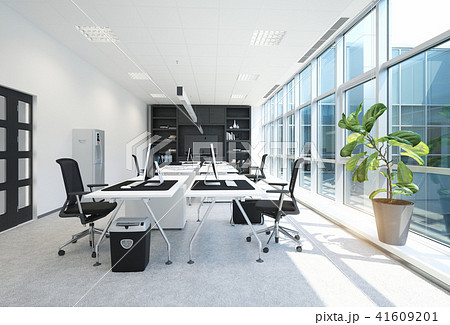 modern office interior. 41609201