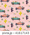 Car race in sand desert cute girl seamless pattern wallpaper. 41617143