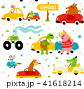 車 自動車 漫画のイラスト 41618214