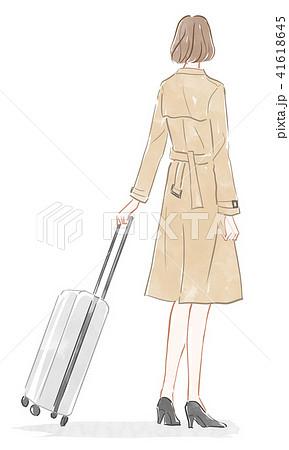スーツケースを持った女性 41618645