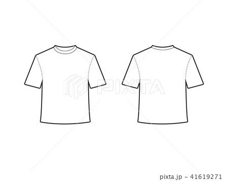 blank t shirt template vectorのイラスト素材 41619271 pixta