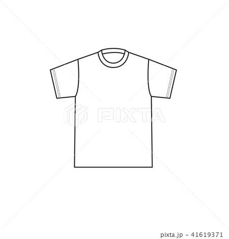 blank t shirt template vectorのイラスト素材 41619371 pixta