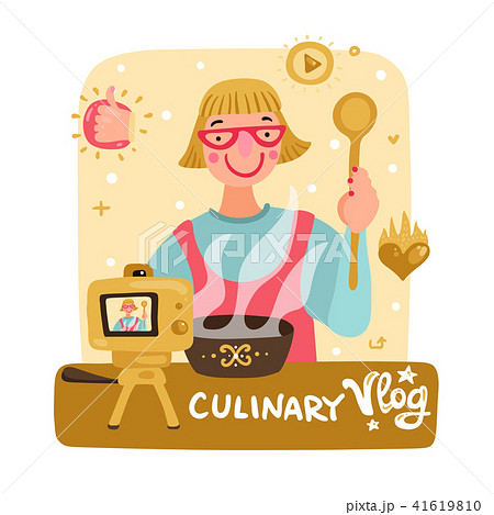 Video Blogger Illustration 41619810