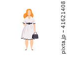 女性 太い 脂のイラスト 41621408