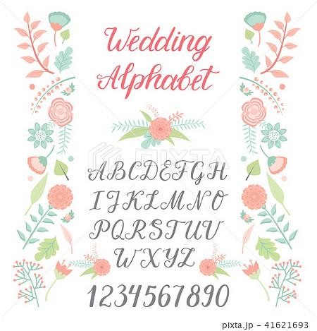 wedding day ceremony alphabet text celebration invitation lettering