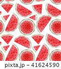 西瓜 パターン 柄のイラスト 41624590