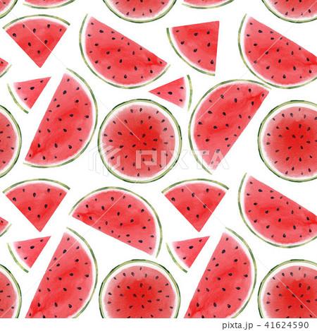 Watercolor watermelon seamless pattern 41624590