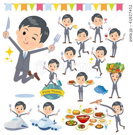 Gray Suit Businessman_food festival 41627452