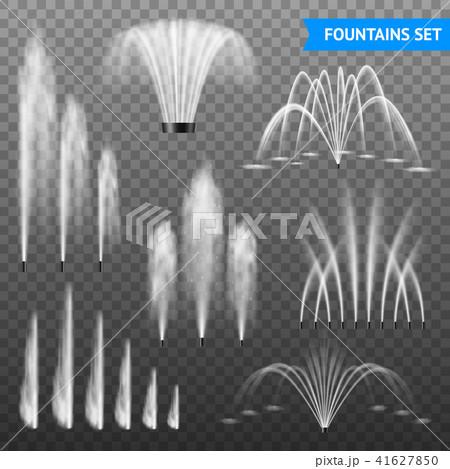 Realistic Fountain Transparent Set  41627850