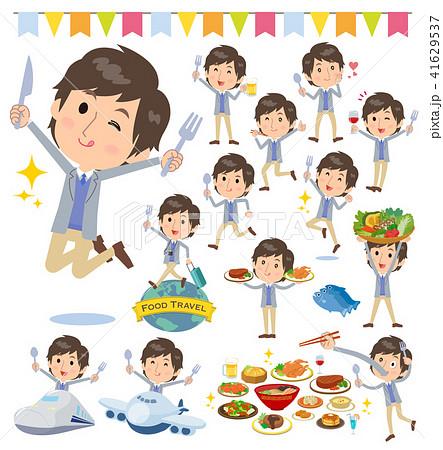 Jacket blue vest men_food festival 41629537