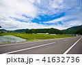 田んぼと道路 田舎3 41632736