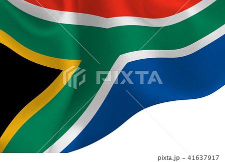 南アフリカ  国旗 旗 背景  41637917