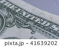 US Dollar bill, super macro, close up photo. Details of bills. 41639202