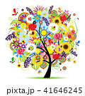 フローラル 樹木 樹のイラスト 41646245