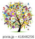フローラル 自然 樹木のイラスト 41646256