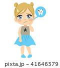 痛める 女の子 少女のイラスト 41646379