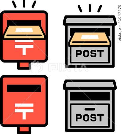 郵便受けに投函される荷物のアイコン 41647479