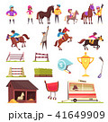Horse Racing Icons Collection 41649909