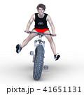 ファットバイクに乗る男性 41651131