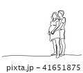 カップル 二人 二人連れのイラスト 41651875