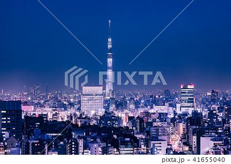 東京都市部の夜景 41655040
