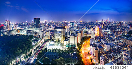 東京都市部の夜景 41655044