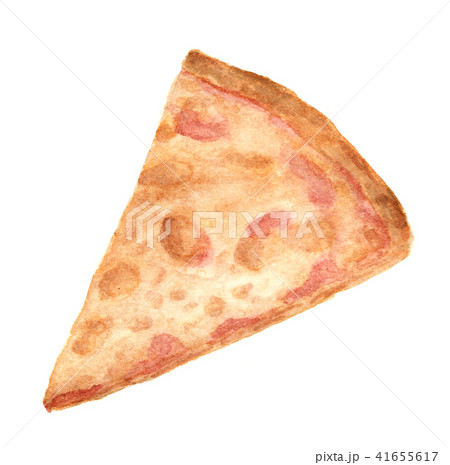 slice of pizza isolated on white backgroundのイラスト素材 41655617