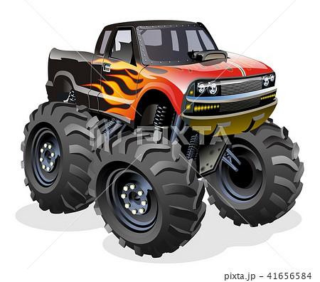 Cartoon Monster Truck 41656584