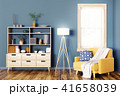 Interior with wooden cabinet and armchair 3d 41658039