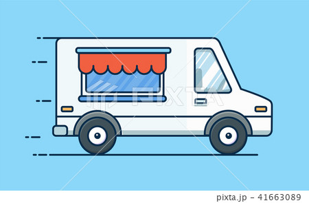 food delivery picnic car truck with food food vのイラスト素材