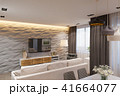 3d render Interior design in Scandinavian style, living room and kitchen 41664077