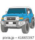 青と白のツートンカラーの四輪駆動車 41665397