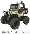レトロでワイルドなアイボリーの四輪駆動車 41665399
