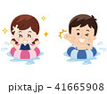 浮き輪で水遊びする子供 41665908