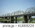 多摩川 鉄橋 列車の写真 41669220