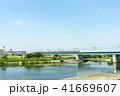 多摩川 鉄橋 列車の写真 41669607