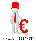 3D Rendering of a man holding an Euro symbol 41674654