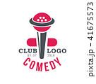シンボルマーク ロゴ お笑いのイラスト 41675573