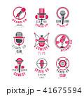 シンボルマーク ロゴ お笑いのイラスト 41675594