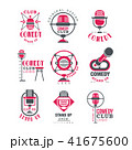 シンボルマーク ロゴ お笑いのイラスト 41675600