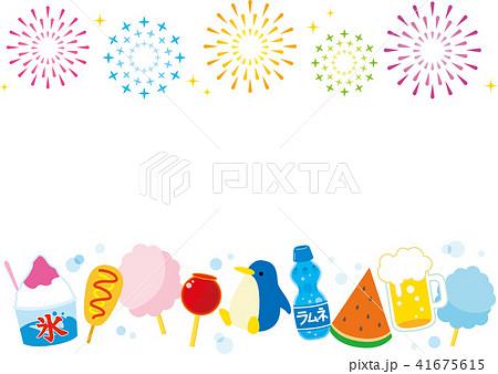 花火と夏祭り 41675615