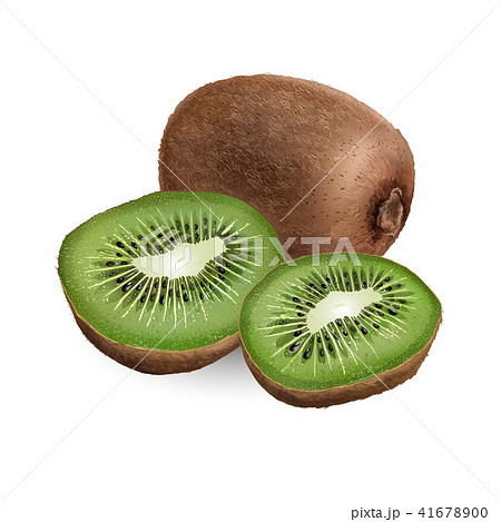 Kiwi on white background 41678900