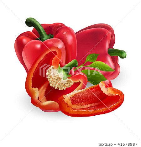 Red pepper on white background 41678987