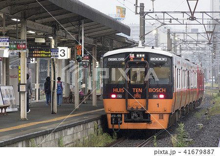 長崎駅に止まるシーサイドライナーの写真素材 [41679887] - PIXTA