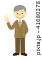 シニア スーツ 男性のイラスト 41680278
